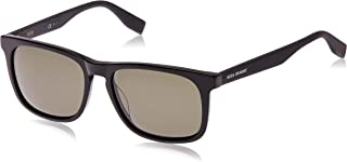 نظارات شمسية بوس اورانج مستطيلة الشكل للجنسين من هوغو بوس - عدسات خضراء
