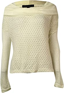 Sanctuary Womens Knit Cowl Neck Pullover Top