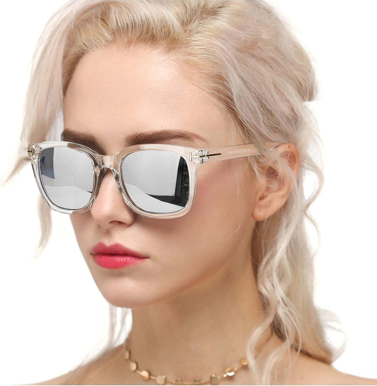 Myiaur Gafas de sol de moda para mujer Conducción polarizada Antideslumbrante Protección UV 100% Diseño elegante