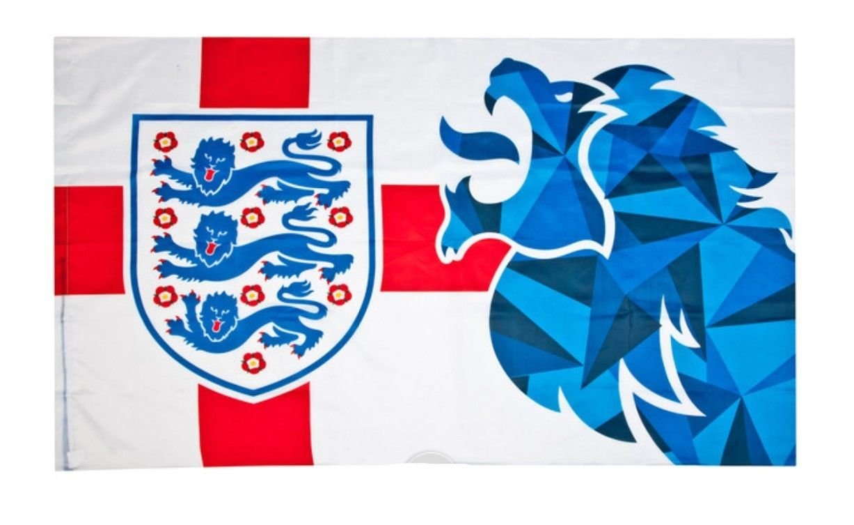 Bandera de Inglaterra de fútbol con escudo de león, de FA: Amazon.es: Deportes y aire libre