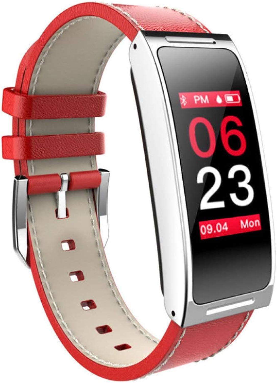 Smart Bracelet color Screen Depth Waterproof Heart Rate Blood Pressure Monitoring Exercise Step,Red