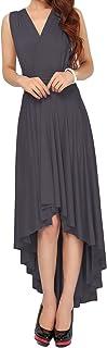 IMEKIS Damen Multiway Kleid Ärmellos V-Ausschnitt Neckholder Rückenfrei Cocktailkleid Hi-Lo Partykleid Elegant Brautjungfer Festlich Ballkleid Abendkleid Sommerkleid Strandkleid S - XL