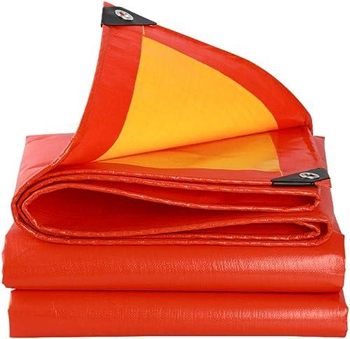 YUBU Tissu antipluie rembourré rouge, bache épaisse tissu imperméable extérieur en plastique de tissu de camion d'Oxford Auvent de parasol de prougeection solaire tissu de pluie de tissu de pluie jaune,