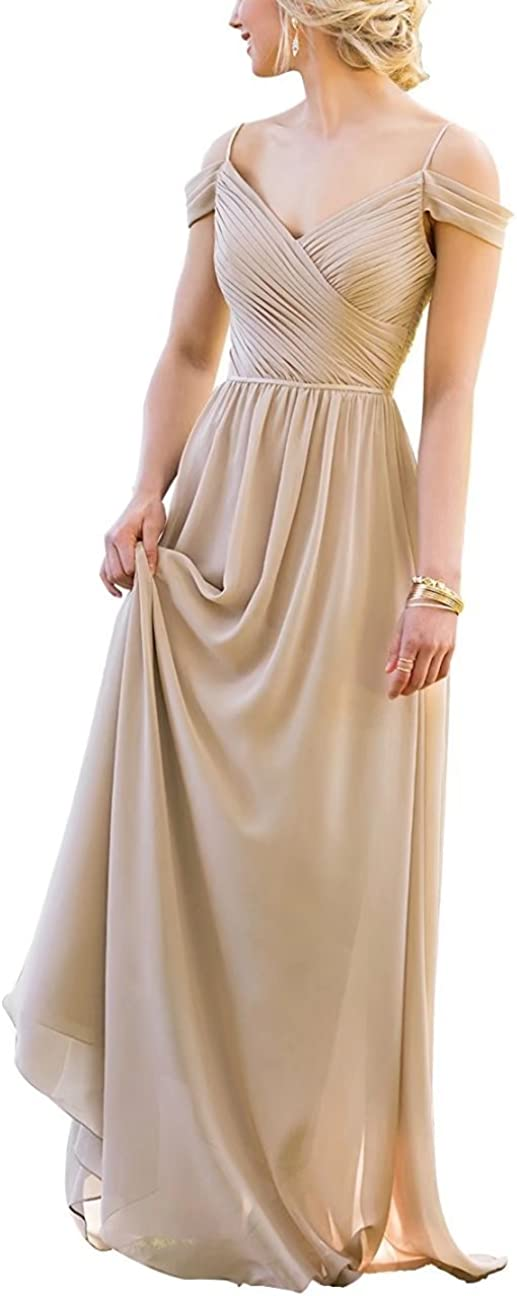 Lilibridal Bridesmaid Dresses Ruffles Off Shoulder Long Wedding Formal Evening Party Ball Gowns 191