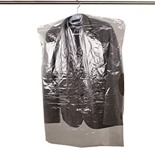 20 Packs Disposable Clear Garment Bags Dry Cleaning Laundrette Polythylene Garment Clothes Cover Protector Bags CYFC322 S: 23.6