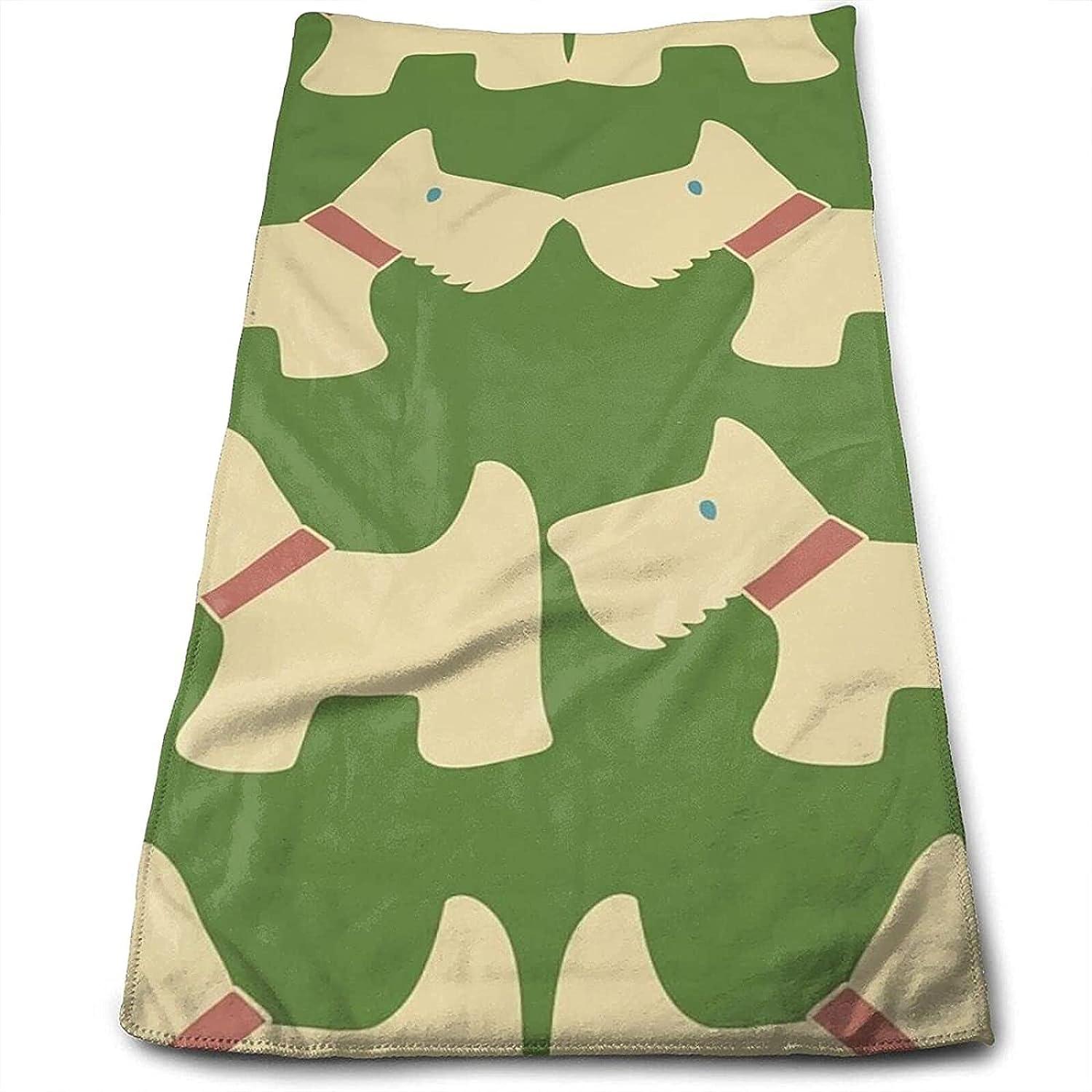 Epushow Green Children's Handkerchief Kitchen Bathroom Handkerchief Soft Polyester Microfiber