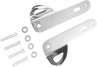Chrome Ring Clip Rings Set Bracket Mount Hardware Kit for Harley Davidson Touring like Street Glide Special Electra Ultra Classic Limited Low CVO ref 93500011 Tie Down Strap Brackets Trailer Hauling
