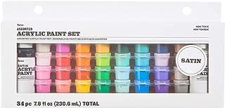 Darice 30049384 Acrylic Paint Pots Set44; Satin - 34 Piece