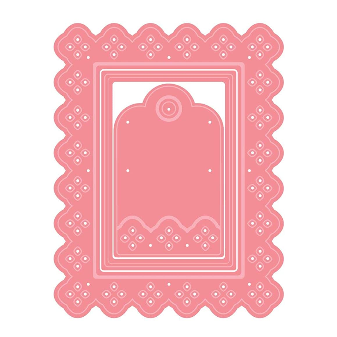 LDRS Creative Eyelet Lace Rectangle 3 Die Set A2 Card Size