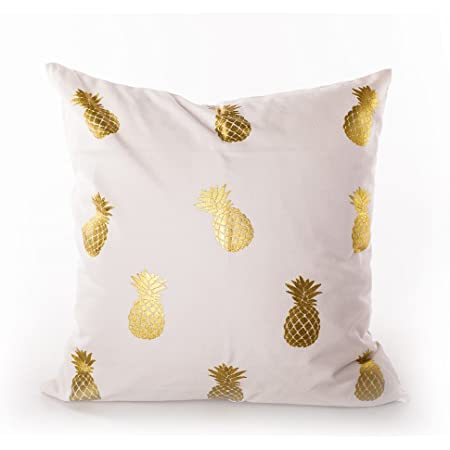 Amazon Com Mealivos Gold Rose Gold Heart Decorative Throw Pillow Cover 18 Small Pineapple Home Kitchen