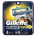 Gillette Fusion ProGlide Men's Razor Blade Refills, 4 Count, Mens Razors/Blades