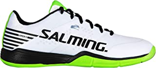Salming Men's Viper 5 Indoor Court Sports Shoes, unisex-adult, footwear, 1238071 0701, White/Black, 8.5 M US
