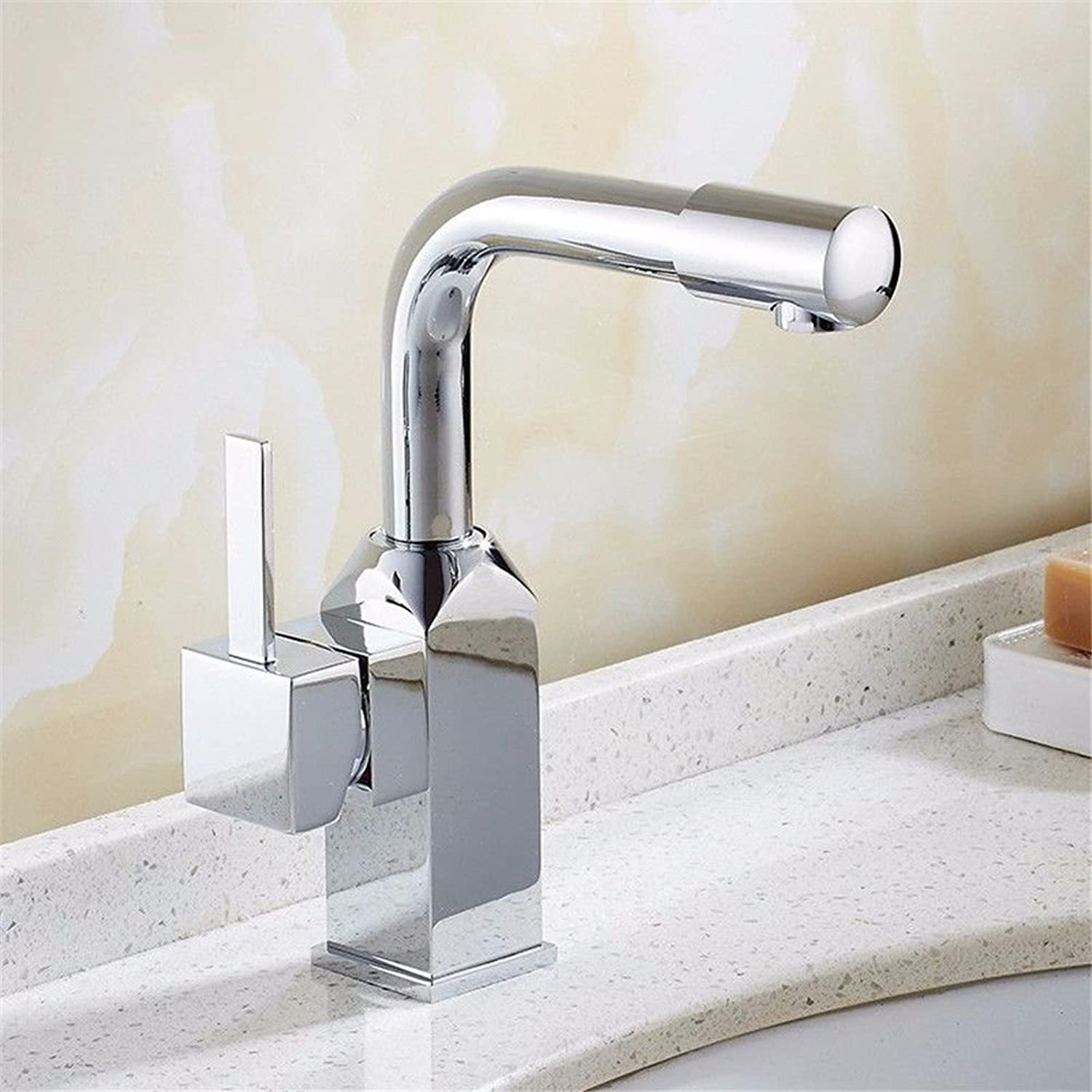 Ywqwdae Bathroom Sink Basin Tap Brass Mixer Tap Washroom Mixer Faucet The white paint mixer full copper hot and cold on the tub basin Washbasin Faucet atmosphere Restroom Fixtures Commercial Bathroom Sink Taps