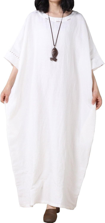 Davikey Women's Bat Sleeve Summer Maxi Dress New