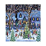 LFBTLN Jigsaw Puzzles for Adults 1000 Pieces, Christmas Cheer Jigsaw Puzzle, Snowman Celebration Jigsaw Puzzle, Christmas House Puzzle for Kids Teens DIY Wall Art Home Decor Entertainment Toys (A)