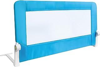 Tatkraft Guard Barandilla para Cama de Bebé Abatible Anticaidas Acero/Plástico/Poliester Azul 120X47X65 cm