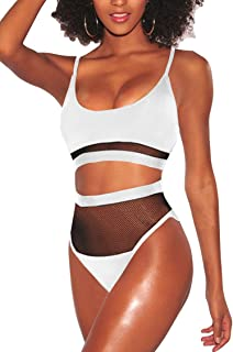 Best white bathing suit high waisted Reviews