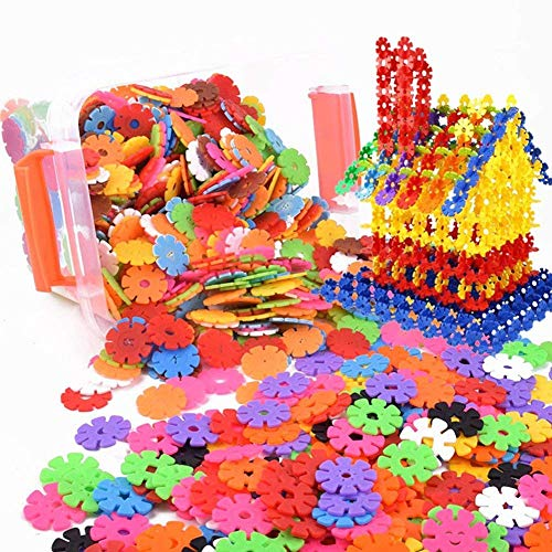 Puzle de construcción para niños, 600 unidades, discos con copos de nieve, artesanía, juguete educativo para creatividad, innovación, regalo de Navidad, cumpleaños o fiesta, juguete para niños y niñas