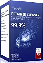Retainer Cleaning Tablets 120 Tablets - 4 Months Supply, Mouth Guard Cleaner, Invisalign Cleaner Tablets, Remove Stains and Bad Odor, Prevent Brace Discoloration, Mint Flavor
