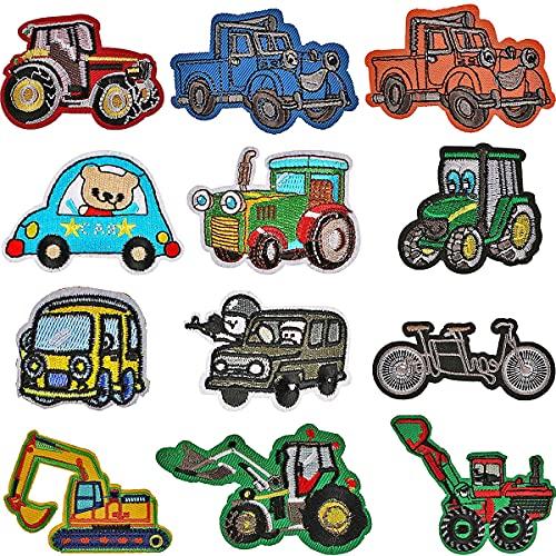 Parches para planchar Miotlsy-Parches para niños con dibujos de camión de bombero, coche, bus Cute DIY Ropa Parches para coches, chaquetas, chaquetas, mochilas, bufandas