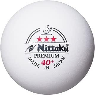 Nittaku Premium 3 Star ITTF 40+ Plastic Table Tennis Balls, 18 Pieces