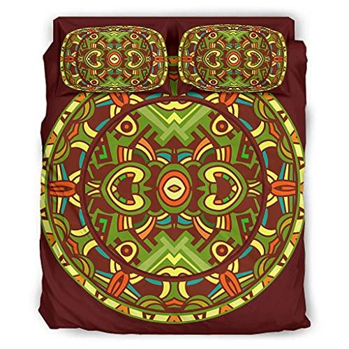 Twelve constellations Juego de cama de 4 piezas antiguas Inkanmayazteken, elegante, agradable al tacto, color blanco, 203 x 230 cm