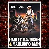 GoPoster Kinoposter Harley Davidson & Marlboro Man -