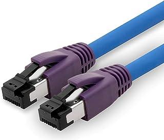 1aTTack.de 20m Cat.8 nätverkskabel CAT8 kabel CAT 8 2000 Mhz 40 Gbit s 40GBase-T high end POE + patchkabel Ethernet-kabel ...