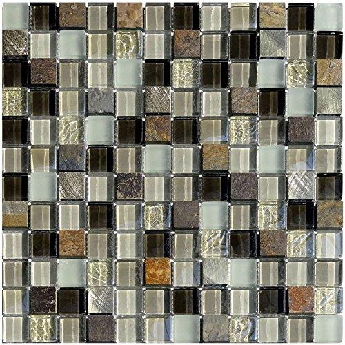 1rete Mix mosaico Green 23pietra dimensioni 2,3x 2,3cm