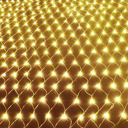 UISEBRT LED Lichternetz Lichterkette 3 x 2m Warmweiß Innen und Außen Dekoration für Weihnachten Hochzeit Party, mit 8 Leuchtmodi (3 x 2m, Warmweiß)