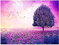 5Dダイヤモンドペインティング 紫の世界。アクリルクリスタル刺繍写真 40x50cm