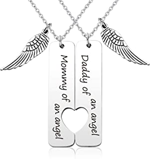 EIGSO Loss Memorial Keychain Mommy/Daddy of an Angel Miscarriage Jewelry Memorial Sympathy Gift for Infant Loss
