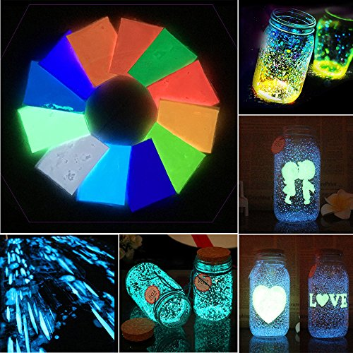 Buy Easter Day Home Décor , Luminous Powder Glow in Dark Sand Colorful Fluorescent Super Luminous...