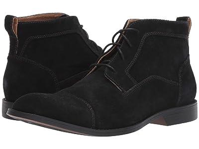 Stacy Adams Wexford Cap Toe Chukka Boot (Black Suede) Men