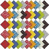Aneco 50 Stück Baumwolle vorgeschnittener Stoff Polka Dots