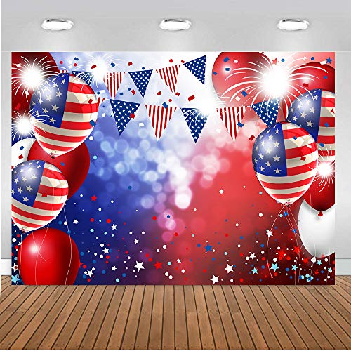 LTLYH 7x5ft Patriotic Backdrop for Photography American Flag and Balloon Veterans Day Background 4th of July Patriotic Party Decoration Photo Studio Booth Banner 104