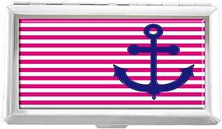 Tumblr Anchor Design Unisex Stainless Steel Cigarette Holder Case Protection Credit Business Card Storage Box Pocket/Wallet