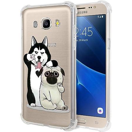 Zhuofan Plus Coque Samsung Galaxy J5 2016, Silicone Transparente avec Motif Design Antichoc Coussin d'air Housse TPU Souple Airbag Shockproof Case ...