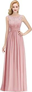 Women's A Line Chiffon Bridesmaid Dresses Long Prom Formal Evening Gowns