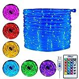 Ollny Lichterschlauch 10M 100 LED USB Lichterkette 16 Farben 4