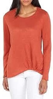 Cumin Organic Linen Knit Jewel Neck Top Size S/P MSRP $148