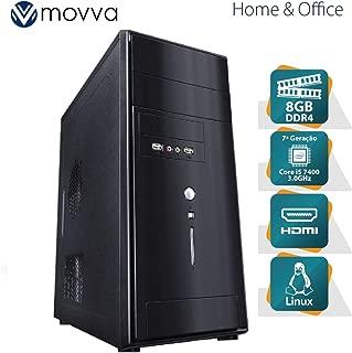 COMPUTADOR LITHIUM INTEL I5 7400 3.0GHZ 7ª GER. MEM. 8GB SEM HD HDMI/VGA FONTE 350W - MVLII5H1108 - MOVVA