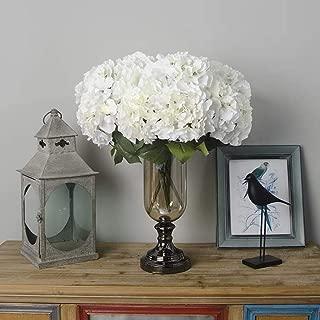 fake hydrangeas in vase