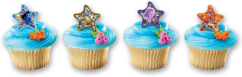 DecoPac Finding Nemo Starfish Assortment Cupcake Rings (12 Count) by DecoPac
