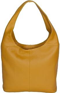 LucieElle Damen Schultertasche Leder Italienisch Handtasche 'Manon' Alter Preis: 80,00 EUR