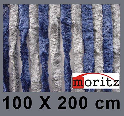 Moritz Flauschvorhang aus Chenille 100 x 200 cm balu grau Türvorhang als Fliegenschutz Insektenschutz für Camping Wohnwagen