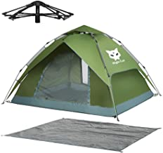 Best Night Cat Waterproof Camping Tent for 1 2 3 4 Person with Footprint Tarp Easy Instant Pop Up Tent Automatic Hydraulic Rainproof Tent with Rain Fly Review
