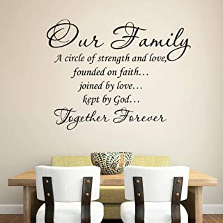 English Our Family Living Room Bedroom Wall Stickers [8407]