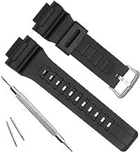 OliBoPo Waterproof Natural Resin Replacement Watch Band for Casio SGW-300H MRW-200H AE-1200 W-800H W-735H AQ- S800W AQ-S810W