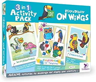 Toykraft: On Wings - 3-in1 art & craft activity for 3 year olds